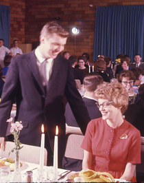 Image of Student banquet in Dining Room ca 1956